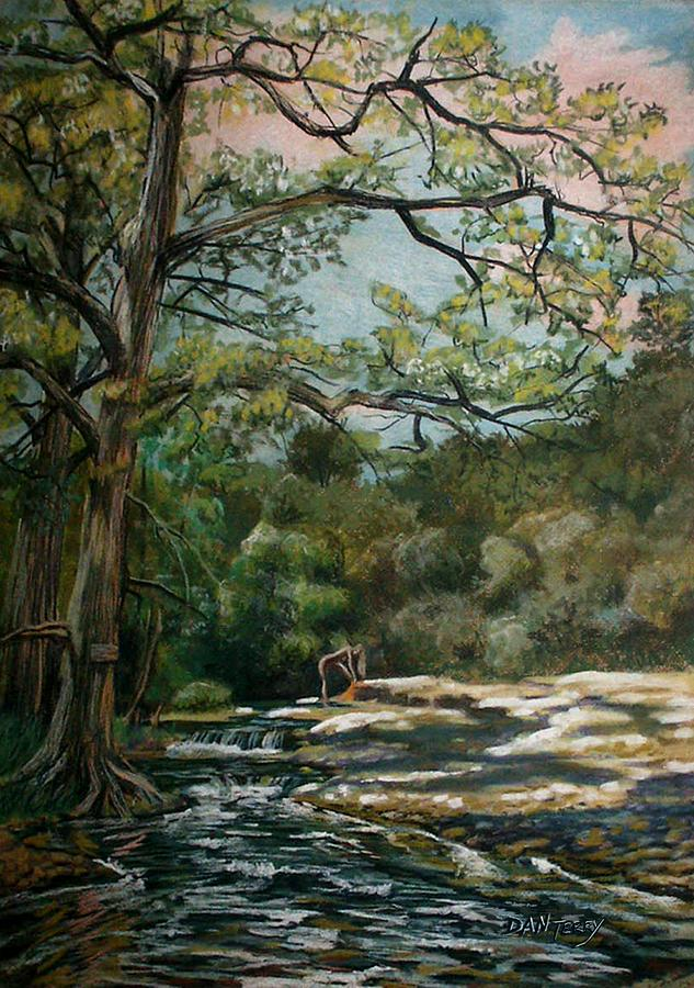 Landscapes Painting - Onion Creek Tx by Dan Terry
