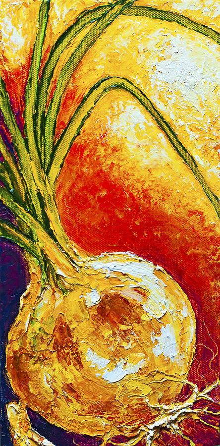 Still Life Painting - Onion by Paris Wyatt Llanso