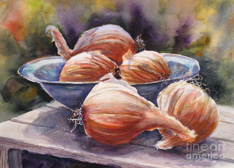 Agriculture Painting - Onions by Mohamed Hirji