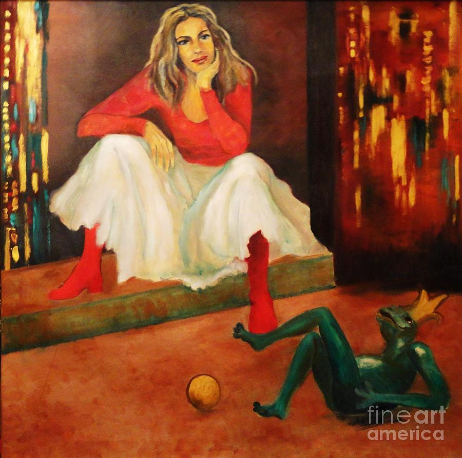 Girl Painting - Only A Fairy Tale  by Dagmar Helbig