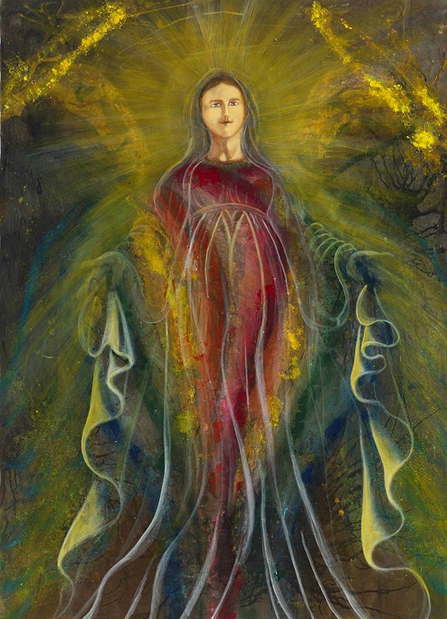 Virgin Mary Painting - Only One Illuminates My Soul IIi by Giorgio Tuscani