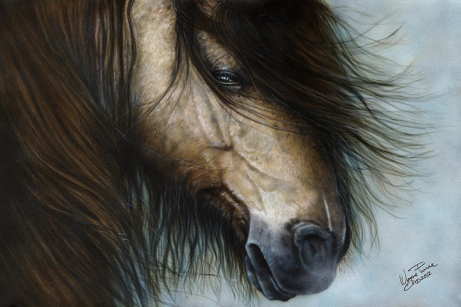 Horse Painting - Only The Strong Survive I by Wayne Pruse