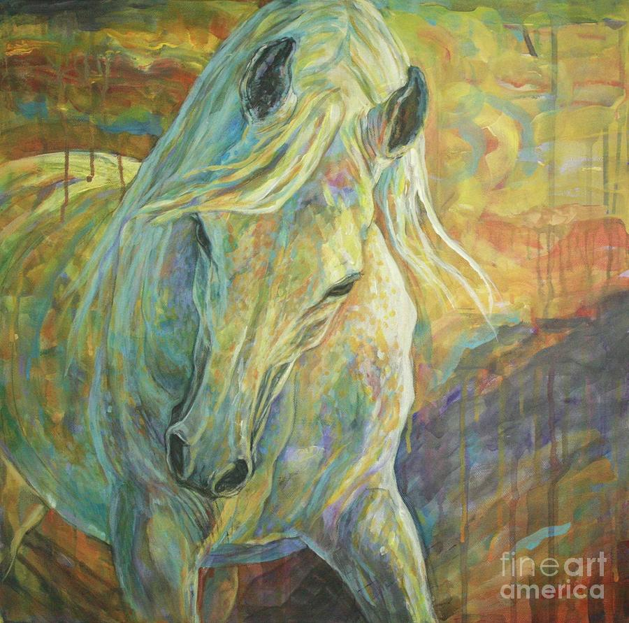 Horse Painting - Opal Dream by Silvana Gabudean Dobre