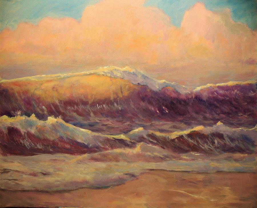 Seascape Painting - Opal Surf Reworked Finale by Jim Noel
