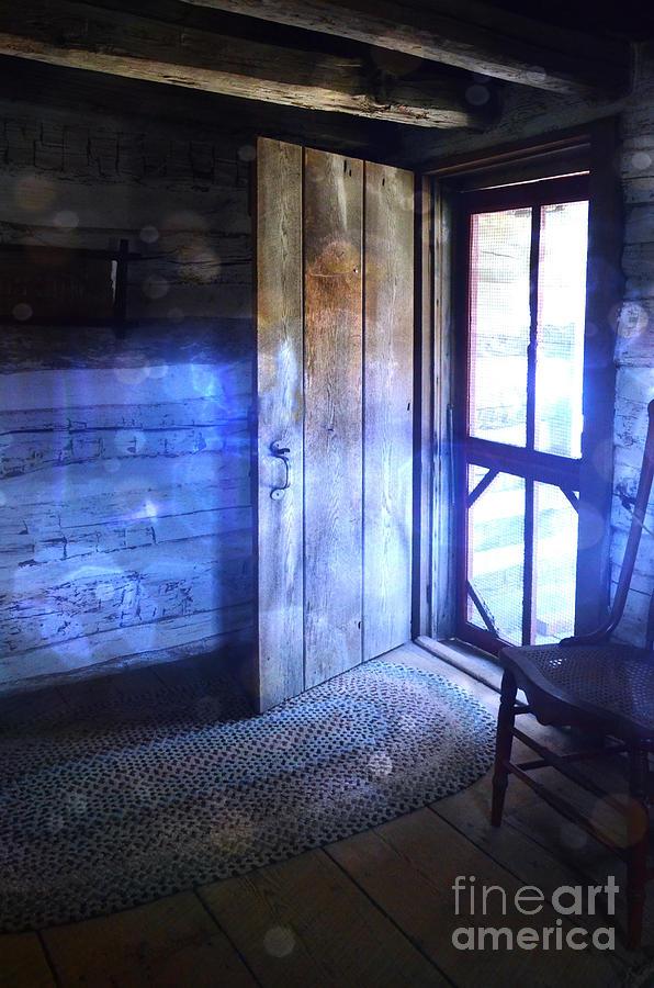 Cabin Photograph - Open Cabin Door With Orbs by Jill Battaglia