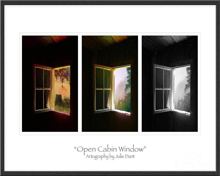 Open Cabin Window Trio Photograph by Julie Dant