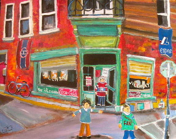 Snack Bar Painting - Open Door Wilensky by Michael Litvack