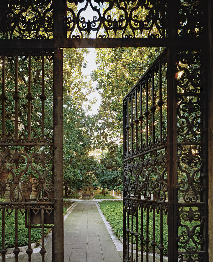 Open Gate And Garden Path Photograph by Durston Saylor