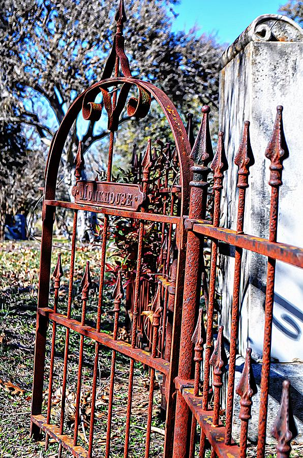 Wrought Iron Photograph - Open Gate by Kelly Kitchens