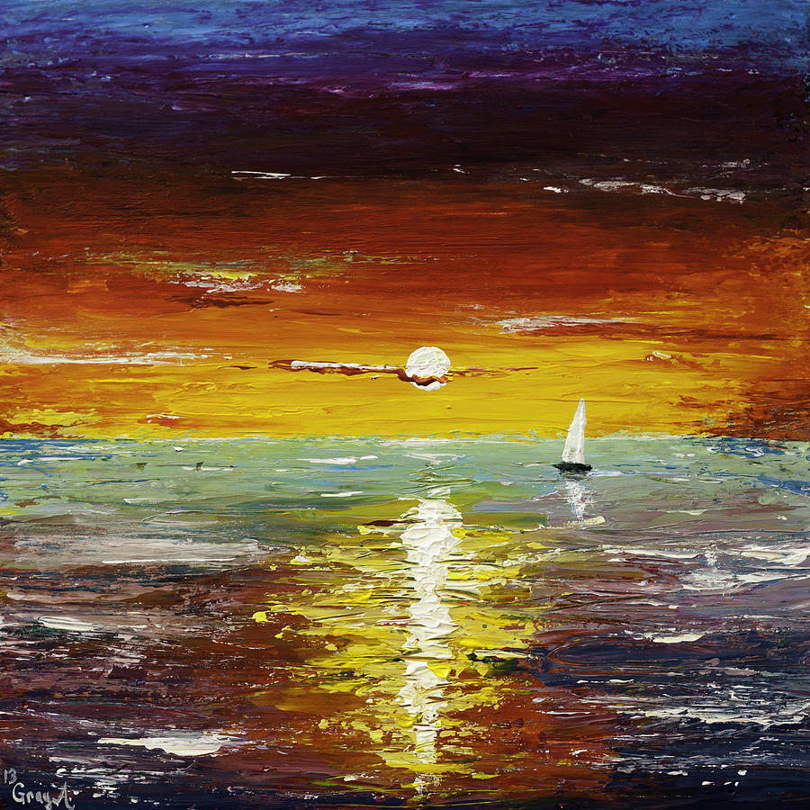 Landscape Painting - Open Sea by Gray  Artus
