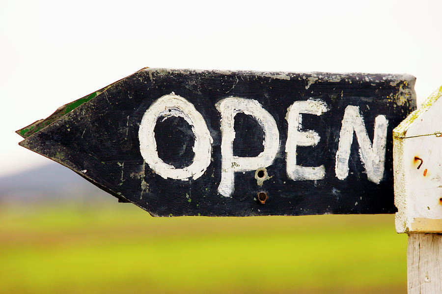 Open Sign Detail Photograph by Oliver Strewe