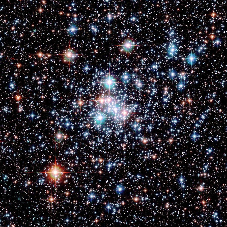 Star Cluster Photograph - Open Star Cluster Ngc 290 by E. Olszewskiu. Arizonanasaesastsci