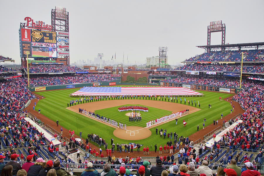 Horizontal Photograph - Opening Day Ceremonies Featuring by Panoramic Images