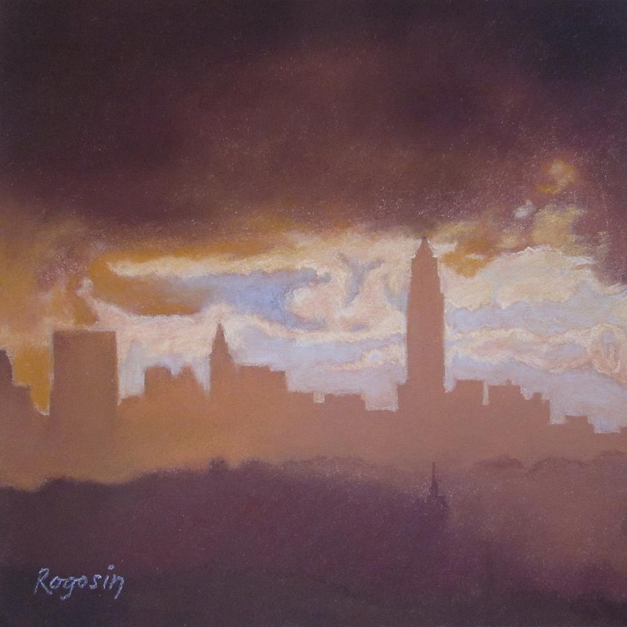 New York City Pastel - Opening To The City by Harvey Rogosin
