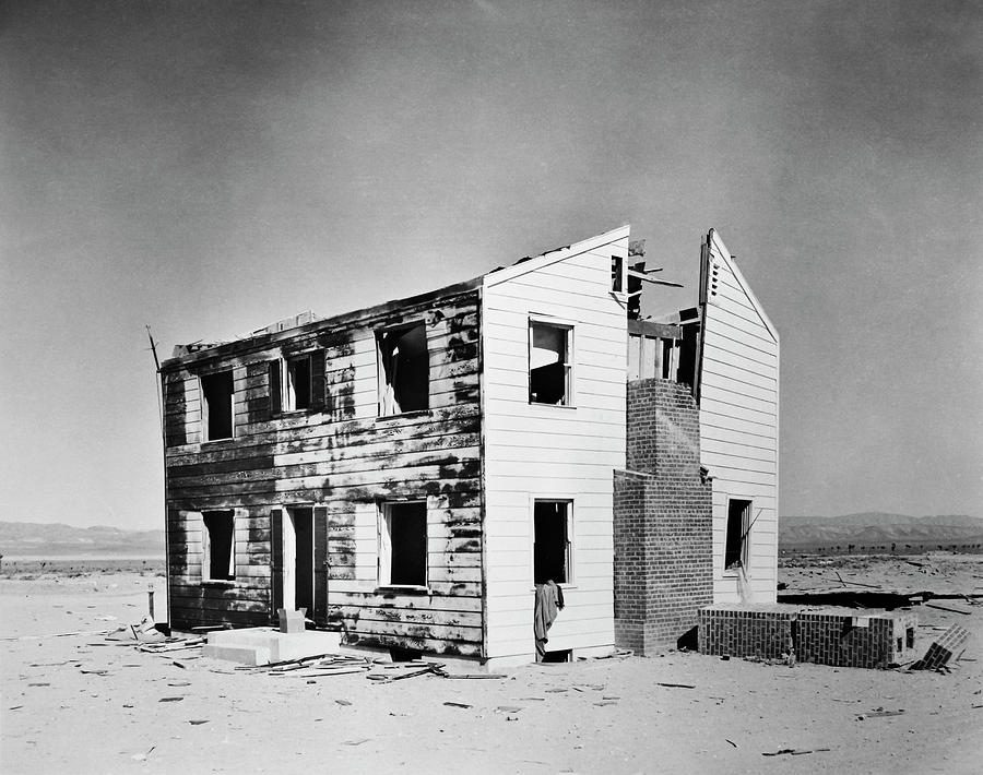 Building Photograph - Operation Cue Atom Bomb Test by Us National Archives