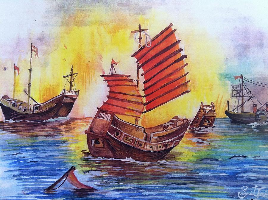 Nature Painting - Opium War by Sumit Jain