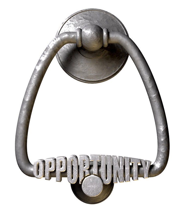 Opportunity Knocks Digital Art - Opportunity Knocks Door Knocker by Allan Swart