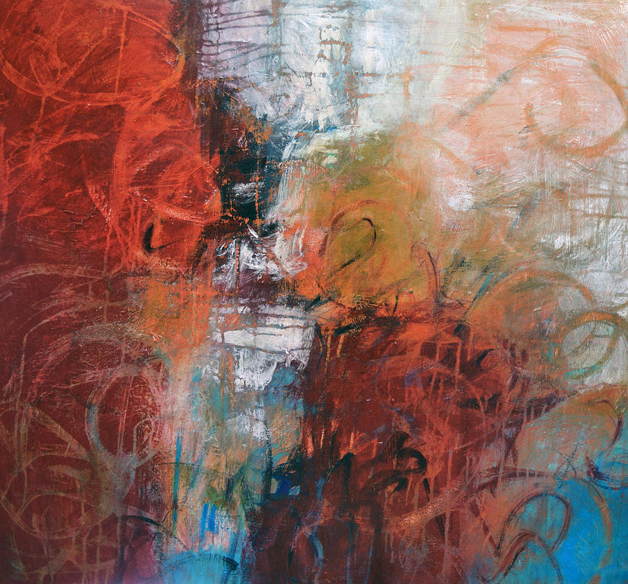 Abstract Painting Painting - Opposing Forces by Filomena Booth