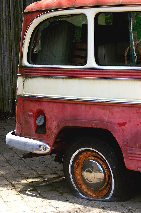 Tire Photograph - Opps Flat by Randy Pollard
