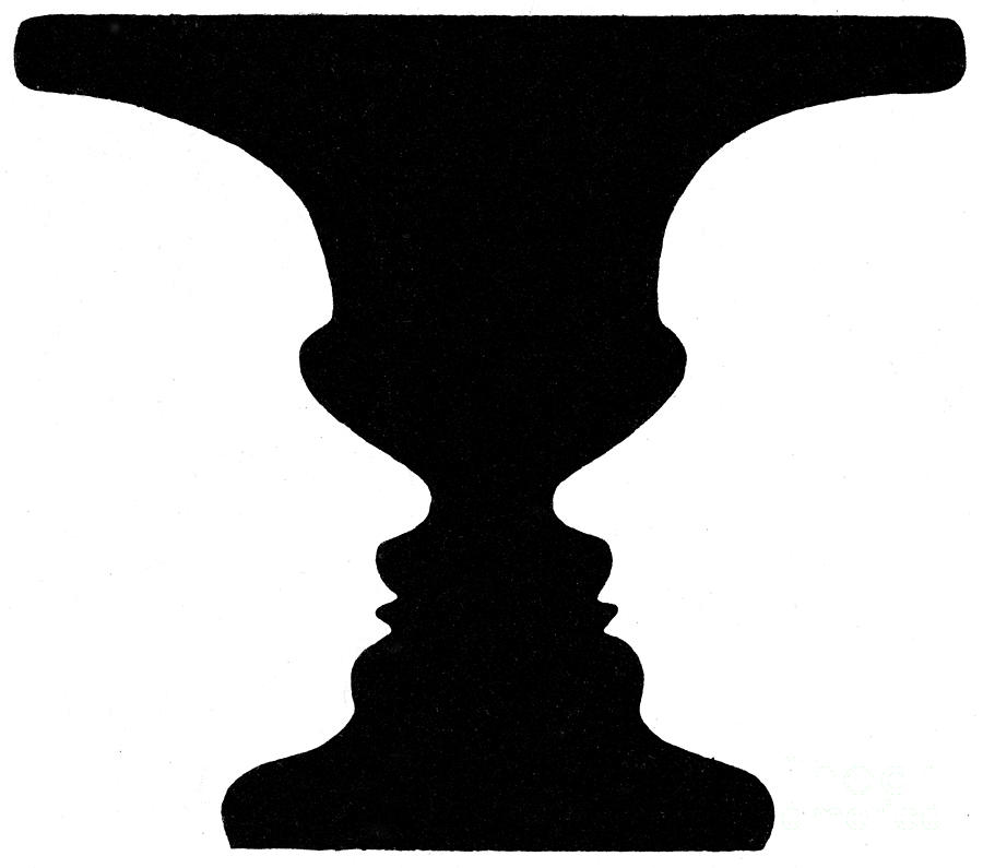 optical illusions vase