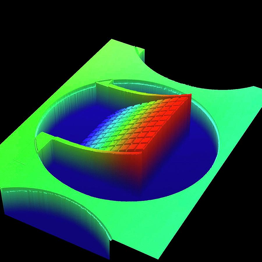 Mems Photograph - Optical Profiling Of Mems Metamaterial by Center For Nanophase Materials Sciences, Ornl