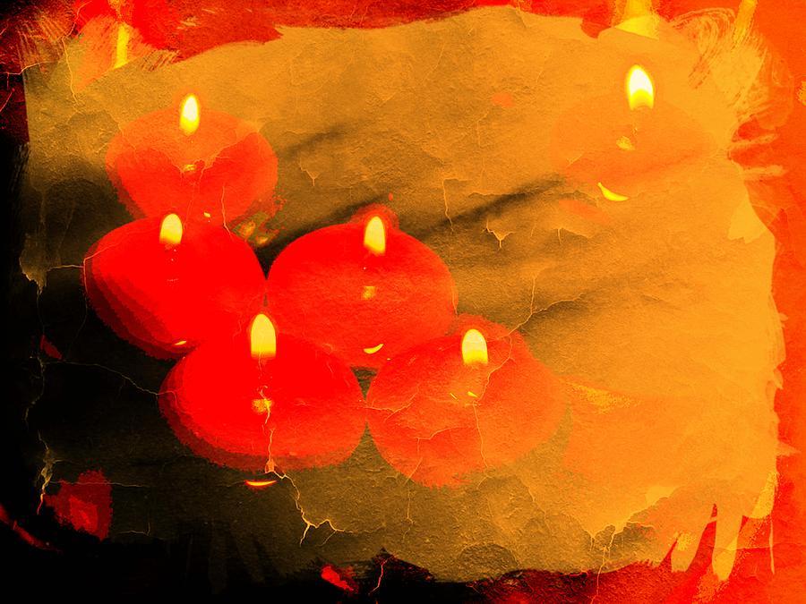 Candles Digital Art - Optimism by Ankeeta Bansal
