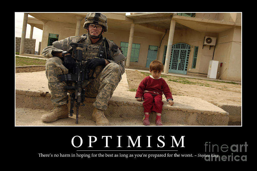 Horizontal Photograph - Optimism Inspirational Quote by Stocktrek Images