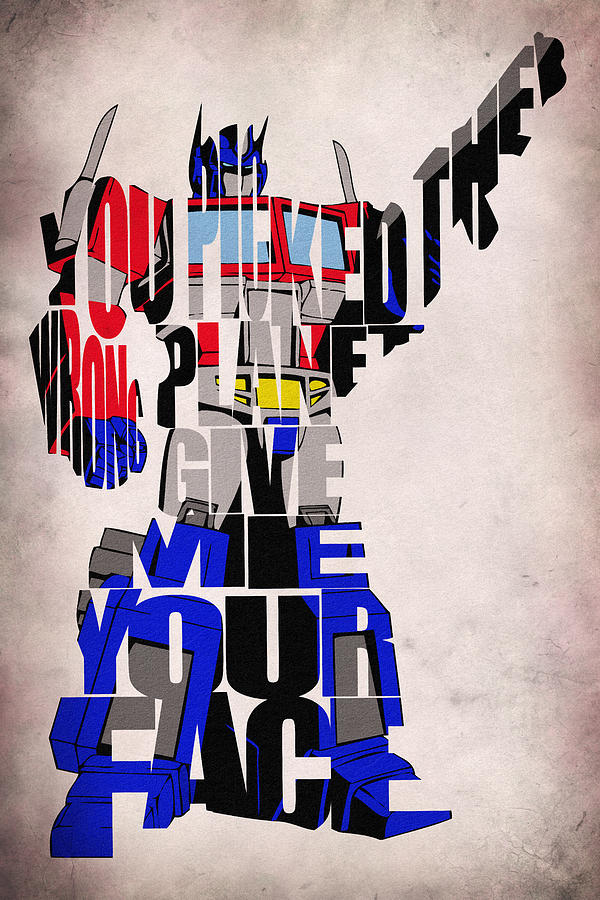 Optimus Prime Digital Art - Optimus Prime by Inspirowl Design