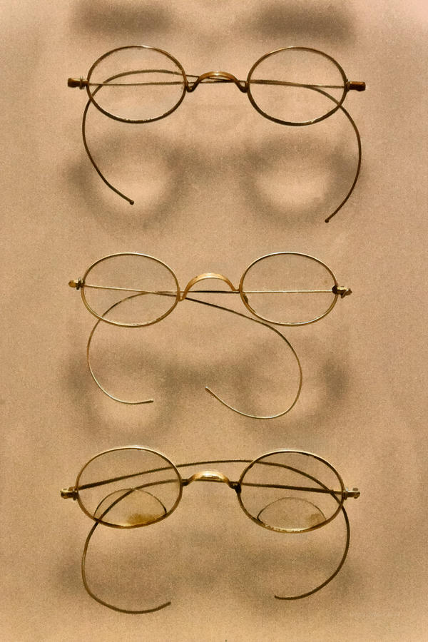 Optician Photograph - Optometrist - Simple Gold Frames by Mike Savad