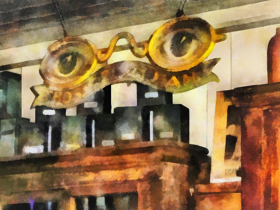 Optometrist Photograph - Optometrist - Spectacles Shop by Susan Savad