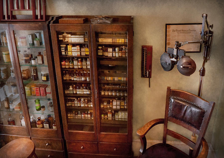 Hdr Photograph - Optometrist - The Optometrists Office by Mike Savad