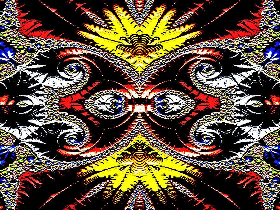 Fractal Digital Art - Opulence by Janet Russell