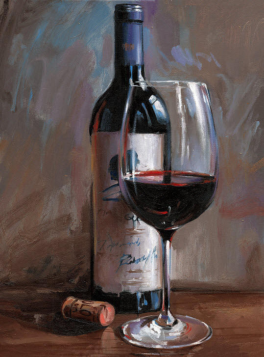 Wine Painting - OPUS One No.10 by Victor Bauer