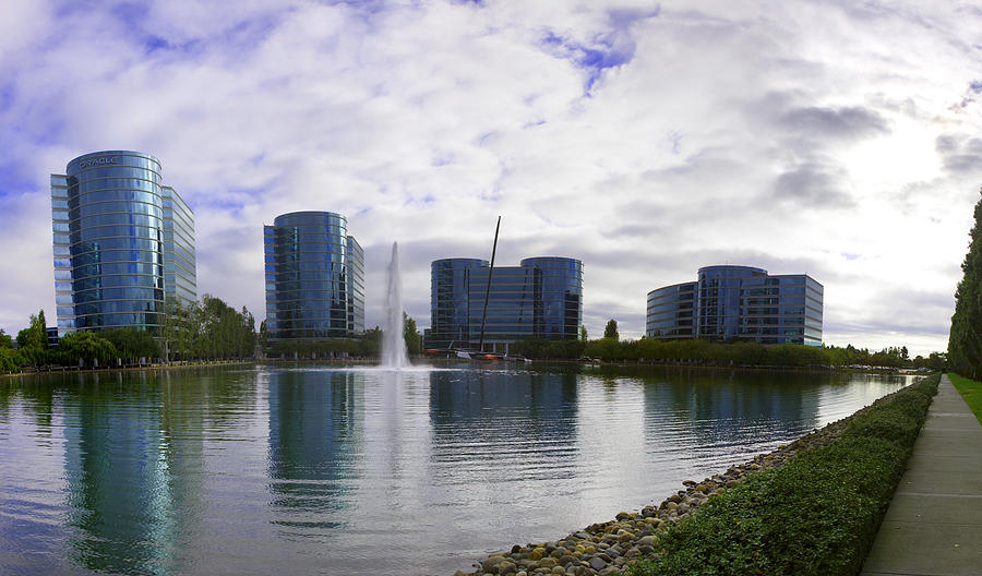 Buildings Photograph - Oracle Buildings In Redwood City Ca by G Matthew Laughton