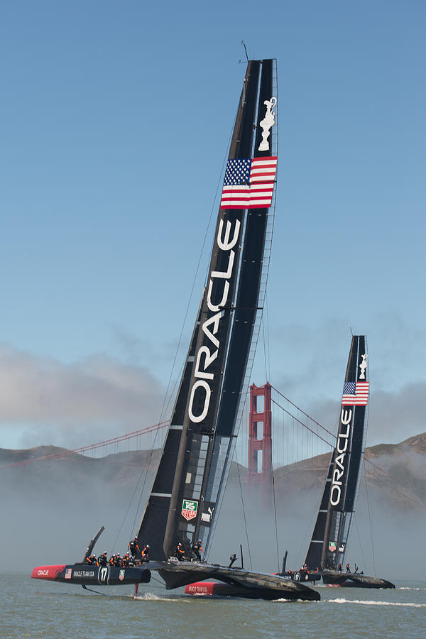America's Cup Photograph - Oracle Team USA - 1 by Gilles Martin-Raget