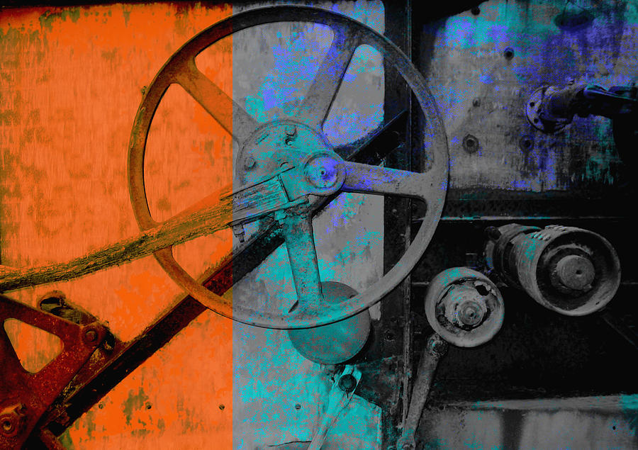Gears Photograph - Orange And Blue  by Ann Powell