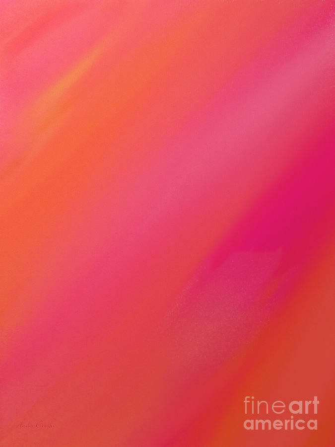 Andee Design Abstract Digital Art - Orange And Raspberry Sorbet Abstract 1 by Andee Design