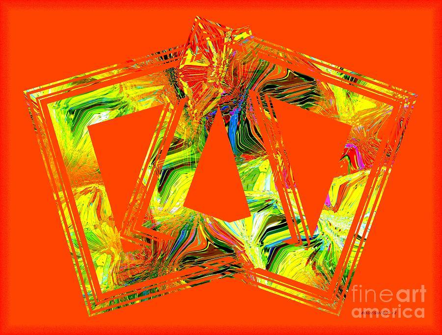Orange Digital Art - Orange And Yellow Art by Mario Perez