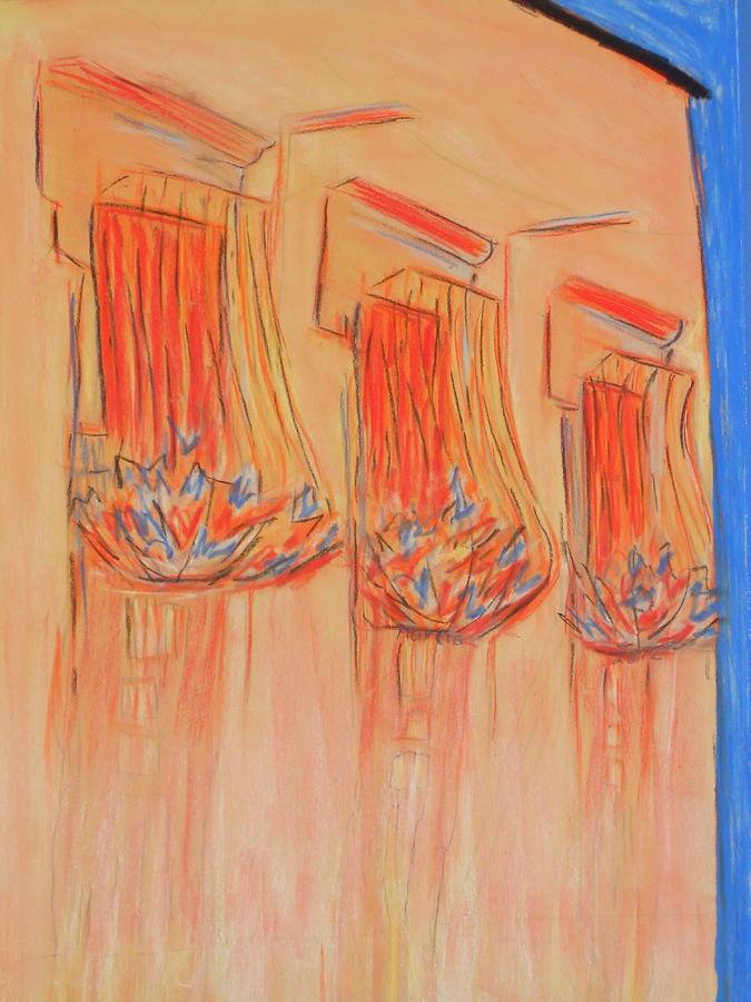 San Miguel De Allende Pastel - Orange Balcony by Marcia Meade