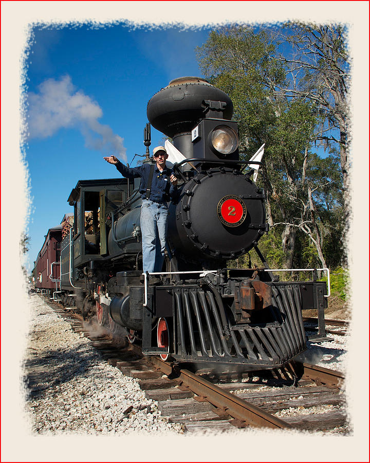 Train Photograph - Orange Blossom Express by Wynn Davis-Shanks