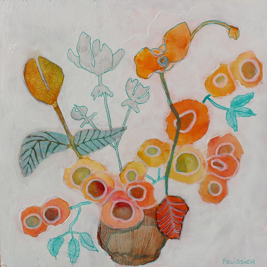 Flower Painting - Orange Blossoms by Sandrine Pelissier