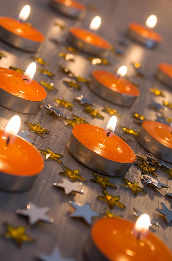 Orange Photograph - Orange Candles by Carlos Caetano