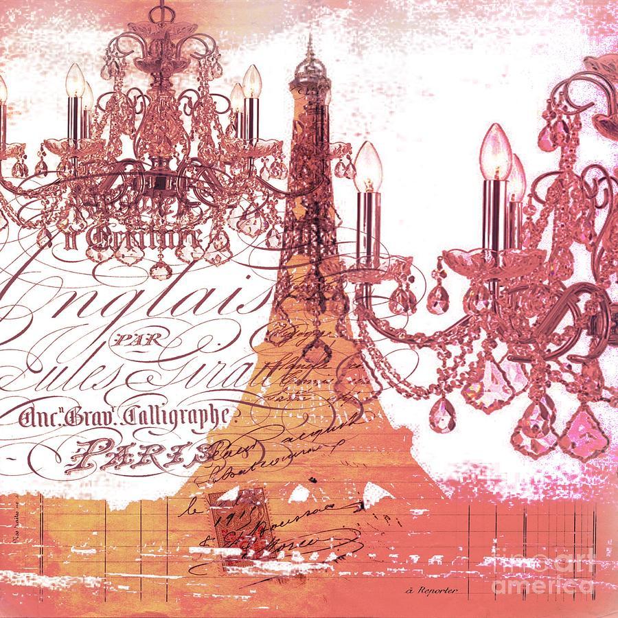 Orange chandelier fashion vintage paris eiffel tower for Paris orange card