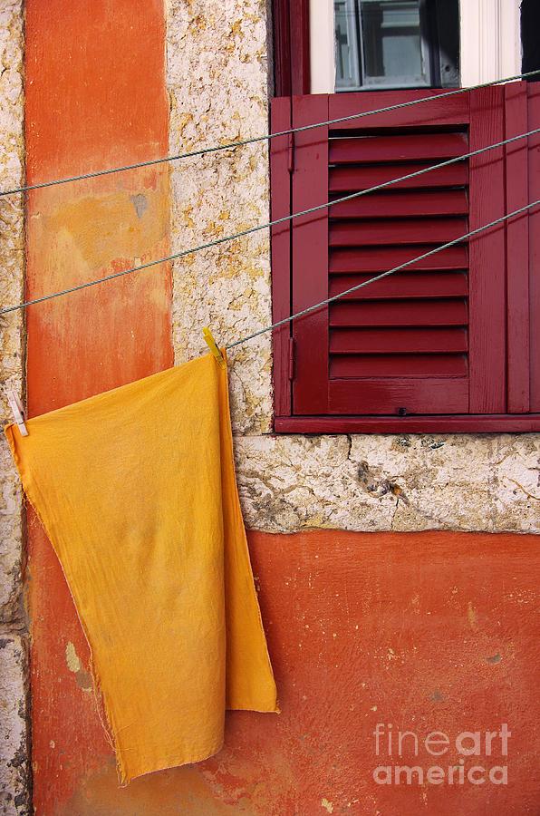 Aged Photograph - Orange Cloth  by Carlos Caetano