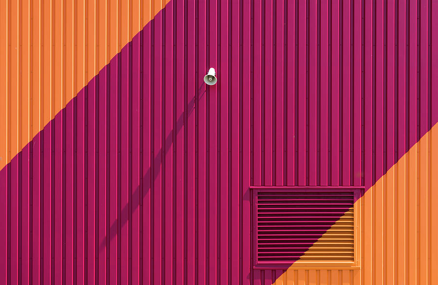 Architecture Photograph - Orange Corners by Greetje Van Son