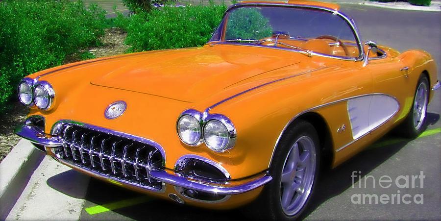Corvette Photograph - Orange Crush by Janice Westerberg