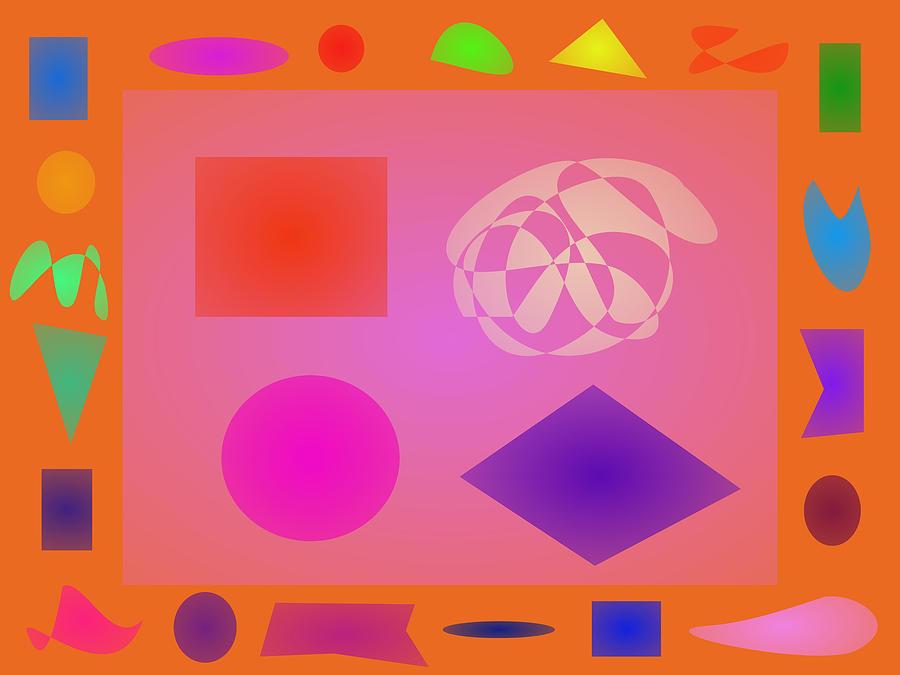 Gradation Digital Art - Orange Dream by Masaaki Kimura