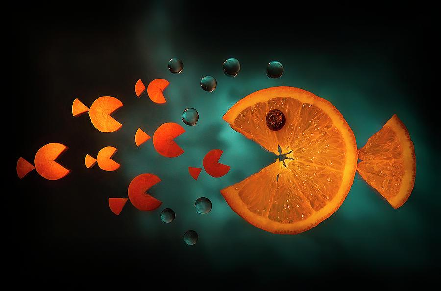 Orange Fish Photograph by Aida Ianeva
