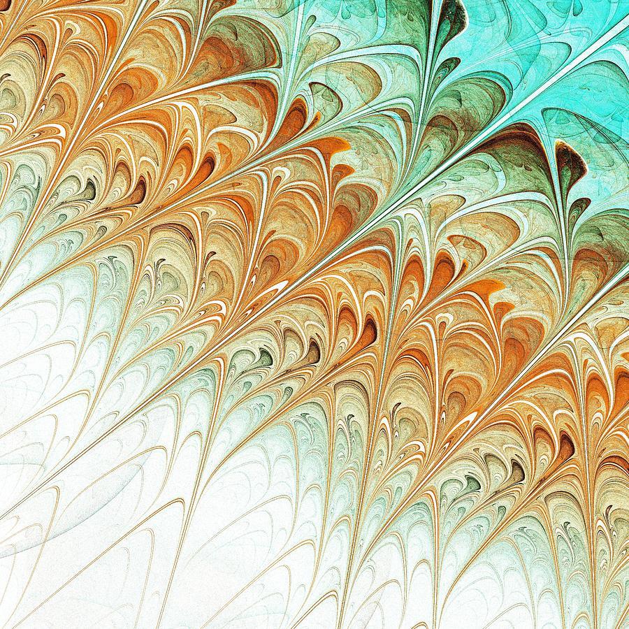 Malakhova Digital Art - Orange Folium by Anastasiya Malakhova
