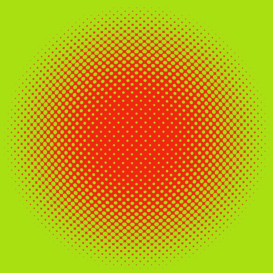 Popular Digital Art - Optical Illusion - Orange On Lime by Paulette B Wright